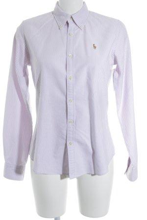 Ralph Lauren Langarmhemd rosa-weiß Streifenmuster Business-Look