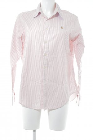 Ralph Lauren Langarmhemd rosa-weiß Streifenmuster Casual-Look