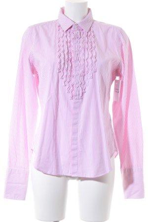 Ralph Lauren Langarmhemd rosa-weiß Streifenmuster klassischer Stil