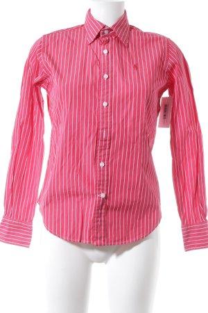 Ralph Lauren Langarmhemd rot-weiß Streifenmuster Business-Look
