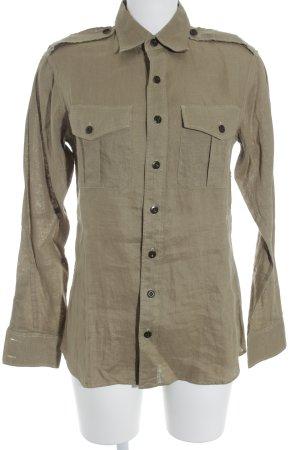 Ralph Lauren Langarmhemd sandbraun Casual-Look