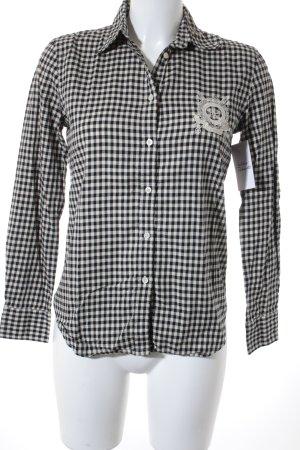Ralph Lauren Langarmhemd schwarz-creme Karomuster Casual-Look