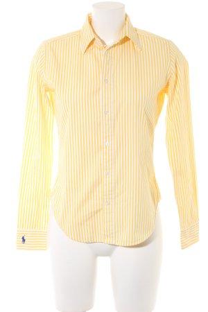 Ralph Lauren Langarmhemd weiß-gelb Streifenmuster Business-Look