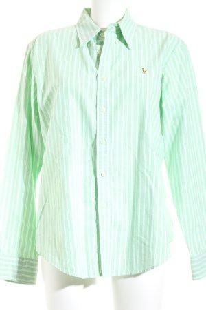 Ralph Lauren Langarmhemd weiß-grün Streifenmuster Casual-Look