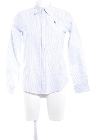 Ralph Lauren Langarmhemd weiß-hellblau Streifenmuster Casual-Look