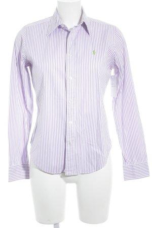 Ralph Lauren Shirt met lange mouwen wit-paars gestreept patroon