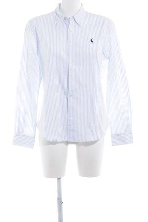Ralph Lauren Langarmhemd weiß-himmelblau Streifenmuster Business-Look