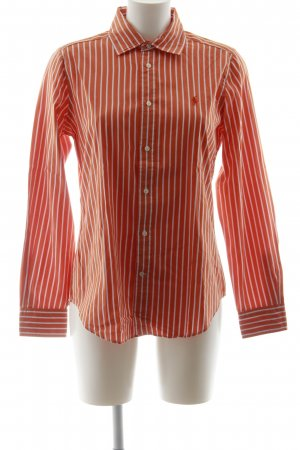 Ralph Lauren Langarmhemd weiß-orange Streifenmuster Business-Look