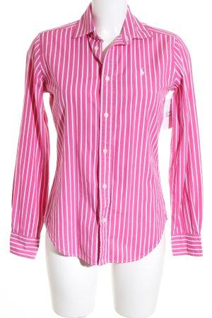 Ralph Lauren Langarmhemd weiß-pink Streifenmuster Business-Look