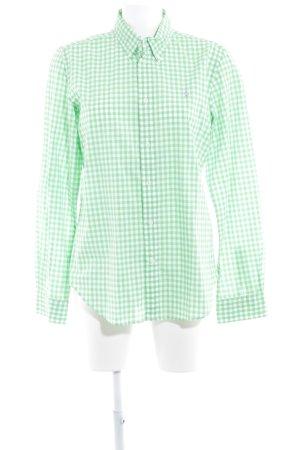 Ralph Lauren Langarmhemd weiß-wiesengrün Karomuster Business-Look