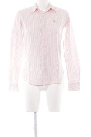 Ralph Lauren Chemise à manches longues blanc cassé-vieux rose motif rayé