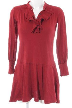 Ralph Lauren Langarmkleid dunkelrot Casual-Look