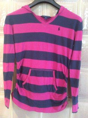 Ralph Lauren Gestreept shirt framboosrood-blauw Katoen