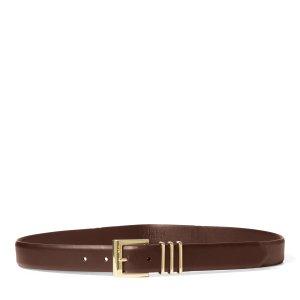 Ralph Lauren Leather Belt cognac-coloured leather