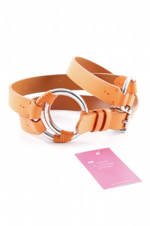 Ralph Lauren Leather Belt orange casual look