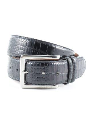 Ralph Lauren Ledergürtel schwarz-braun Reptil-Optik