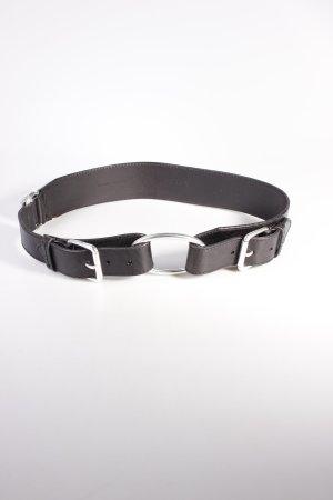 Ralph Lauren Ledergürtel schwarz Ringelemente