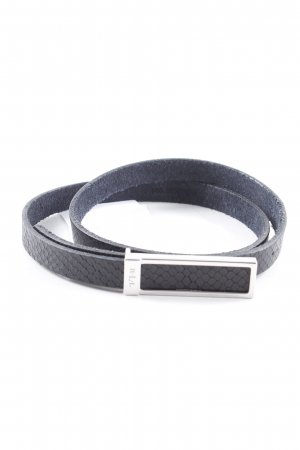 Ralph Lauren Leather Belt black-silver-colored animal pattern elegant