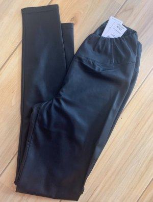 Ralph Lauren Pantalone in pelle nero