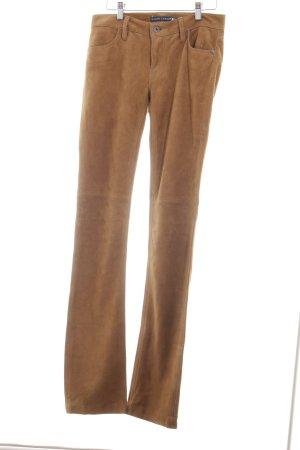 Ralph Lauren Leren broek bruin zakelijke stijl