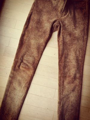Ralph Lauren Leather Trousers cognac-coloured leather
