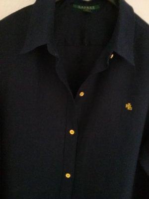 Ralph Lauren  Leinenhemd  long dunkelblau  Gr. 42