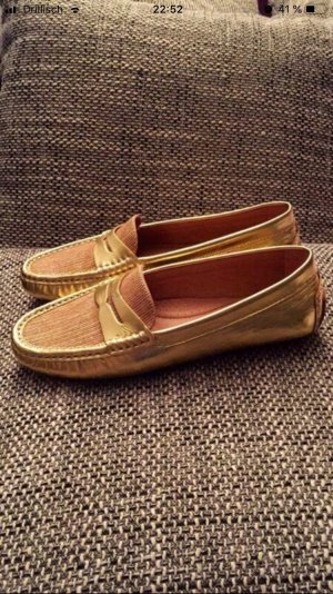 Ralph Lauren Loafer Bootsschuhe Gold