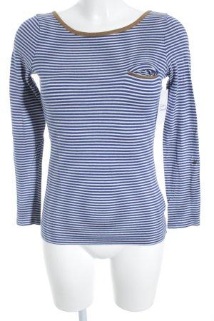 Ralph Lauren Longsleeve weiß-blau Streifenmuster Casual-Look