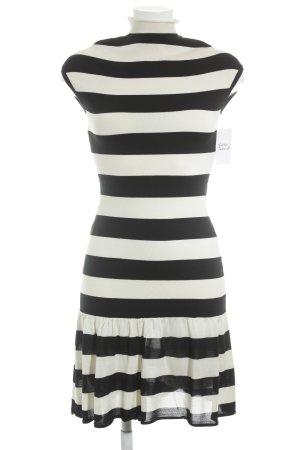 Ralph Lauren Midikleid schwarz-creme Streifenmuster Casual-Look