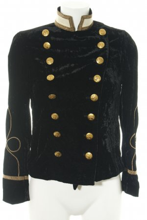 Ralph Lauren Chaqueta militar negro estilo extravagante
