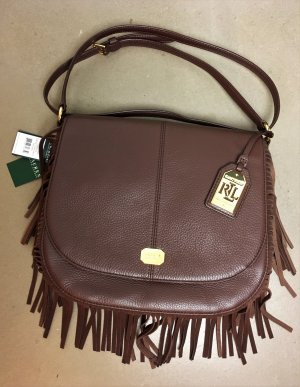 Lauren by Ralph Lauren Fringed Bag multicolored leather