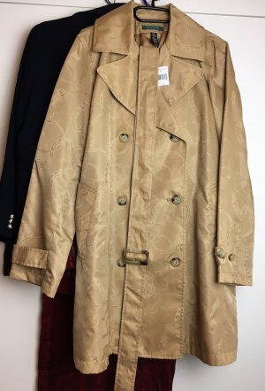 * RALPH LAUREN * NEU ! TRENCH COAT 2- Reiher MANTEL beige Labelprint Gr L