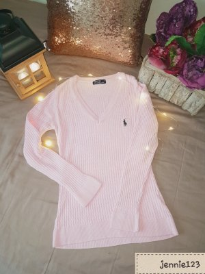 Ralph Lauren Maglia con scollo a V rosa chiaro