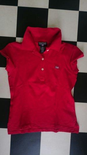 Ralph Lauren Org. Poloshirt tailliert, rot