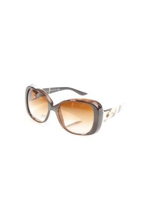 Ralph Lauren ovale Sonnenbrille dunkelbraun-creme Eleganz-Look