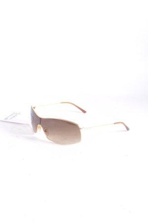 Ralph Lauren ovale Sonnenbrille goldfarben-hellbraun Glanz-Optik