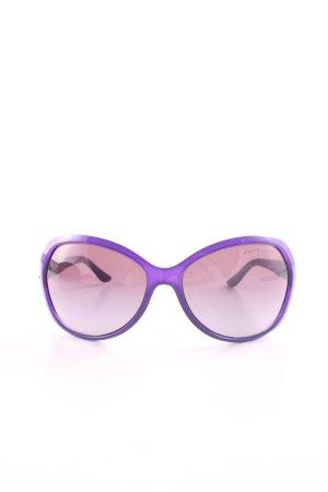 Ralph Lauren ovale Sonnenbrille lila Business-Look