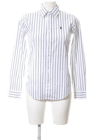 Ralph Lauren Oversized Bluse weiß-blau Streifenmuster Business-Look
