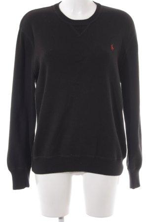 Ralph Lauren Oversized Pullover schwarz-dunkelrot Boyfriend-Look