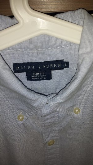 Ralph Lauren Oxford Bluse mit Button Down Kragen