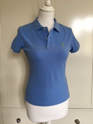 "Ralph Lauren Pastellblaues Polohemd XS klassisches Design ""The skinny Polo"""
