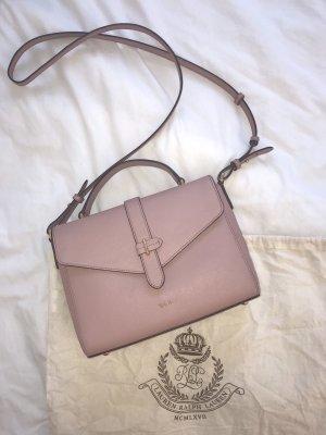 Ralph Lauren Cartables rose-crème cuir