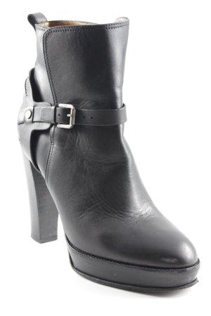 Ralph Lauren Plateau-Stiefeletten schwarz klassischer Stil