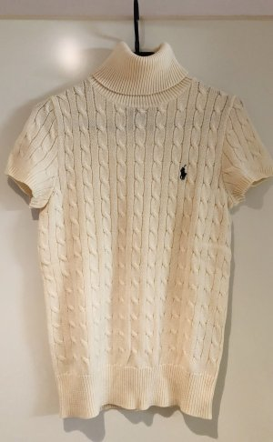 Ralph Lauren Turtleneck Sweater natural white cotton