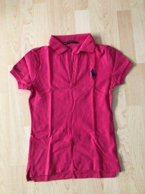 Ralph Lauren Sport Blusa tipo Polo rojo frambuesa