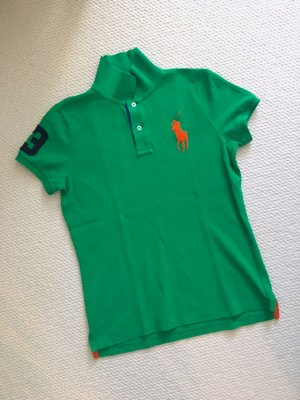 Ralph Lauren Polo (froschgrün, grün, großer oranger Reiter)