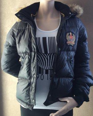 Ralph Lauren Polo Jeans Co. Daunenjacke schwarz mit Kunstpelz