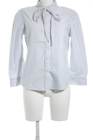 Ralph Lauren Polo Jeans Hemd-Bluse weiß-himmelblau Streifenmuster