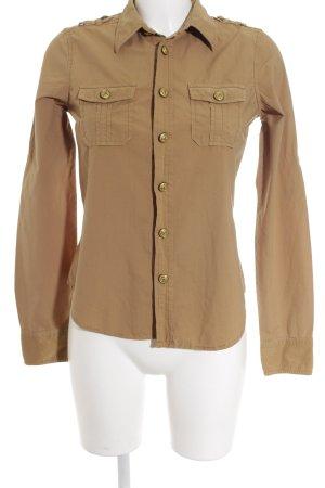 Ralph Lauren Polo Jeans Langarmhemd sandbraun-goldfarben Brit-Look