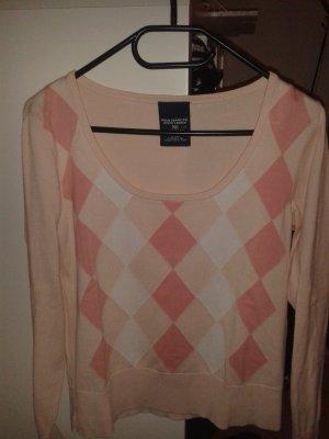 Ralph Lauren Polo Jeans Pullover rosa Rauten Gr. L